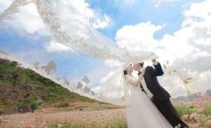 Bộ ảnh cưới giữa đồng hoa tam giác mạch