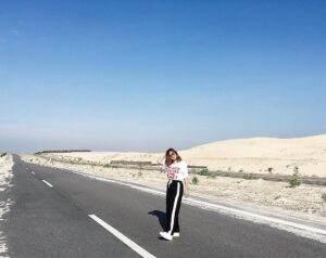 """Tới Bàu Trắng bạn sẽ phải vượt qua một con đường được ví như """"đại lộ Tây"""""""